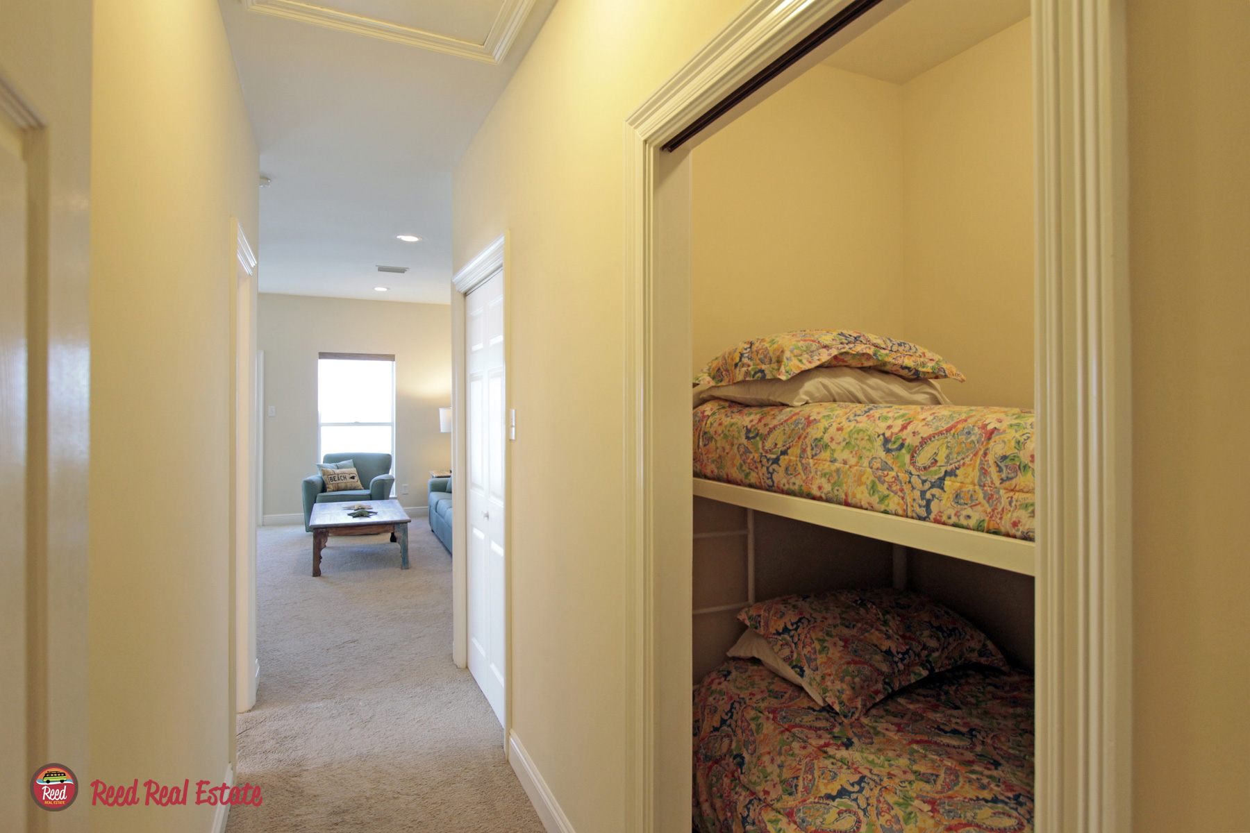 Master bedroom entry with sleeping alcove