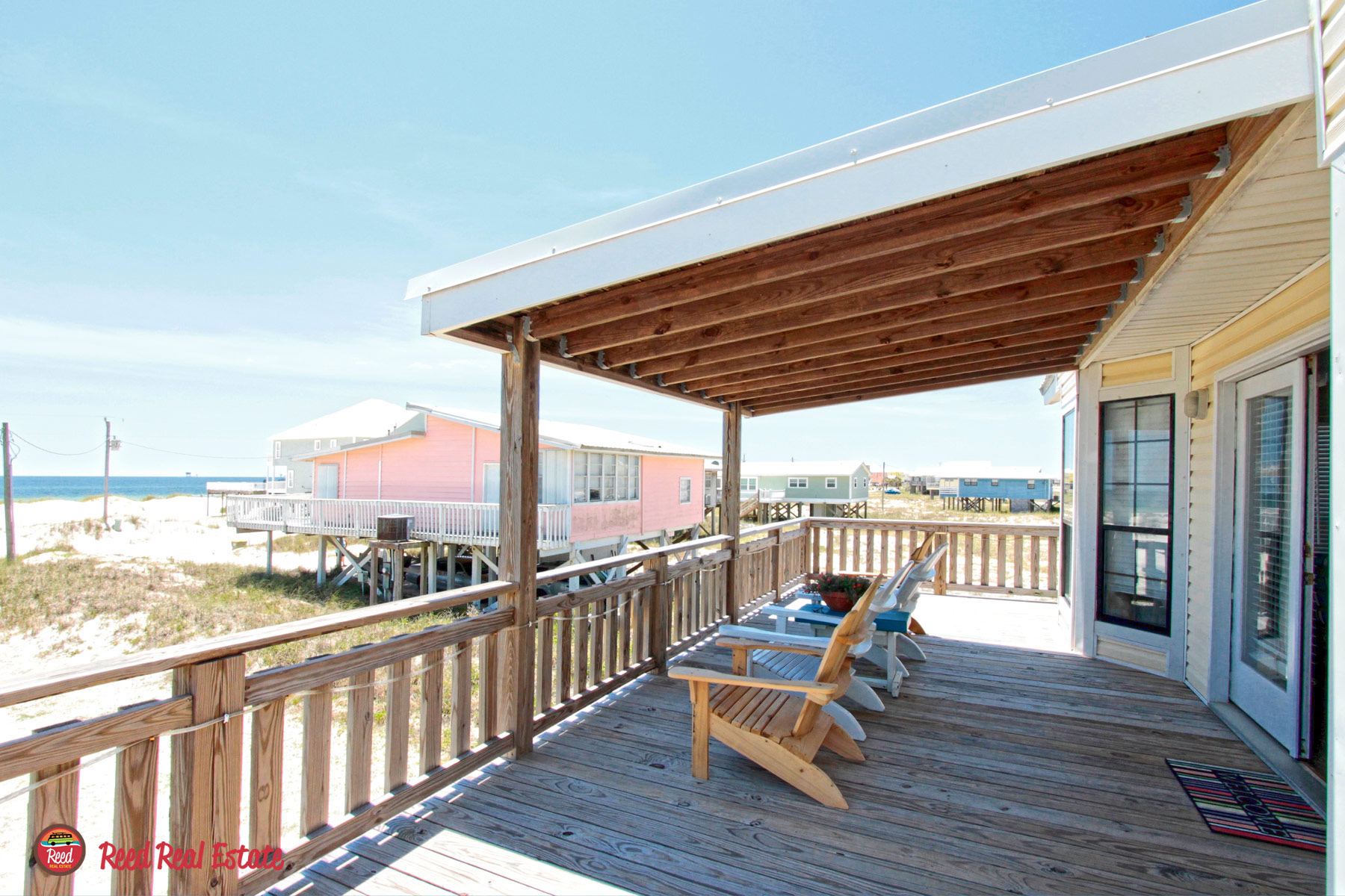 Great partially covered deck