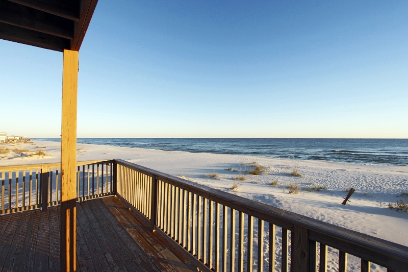 Beautiful view from partially covered deck