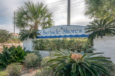 Entrance to Surfside Shores Subdivision