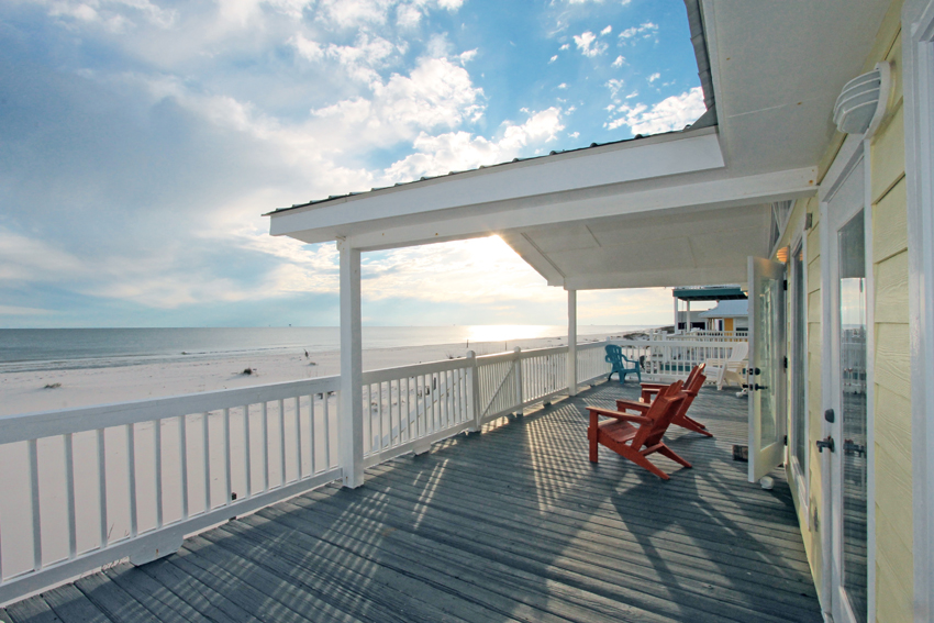 Expansive, partially covered balcony
