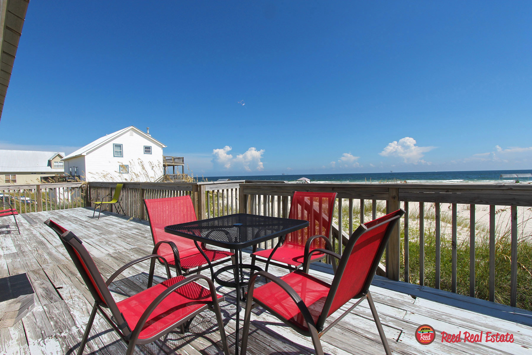 Enjoy gulf breezes from the deck