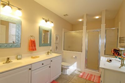 Master bath with double shower