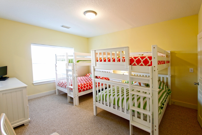 3rd level, bedroom #6 with full size bunks