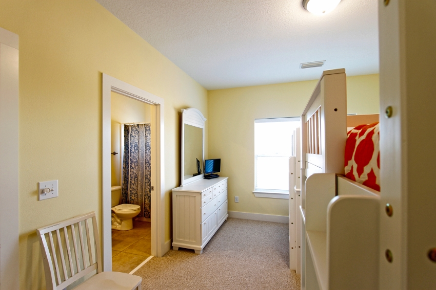 3rd level, bedroom #6 with Jack & Jill bath