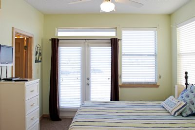 Master Bedroom with en suite and front deck access.