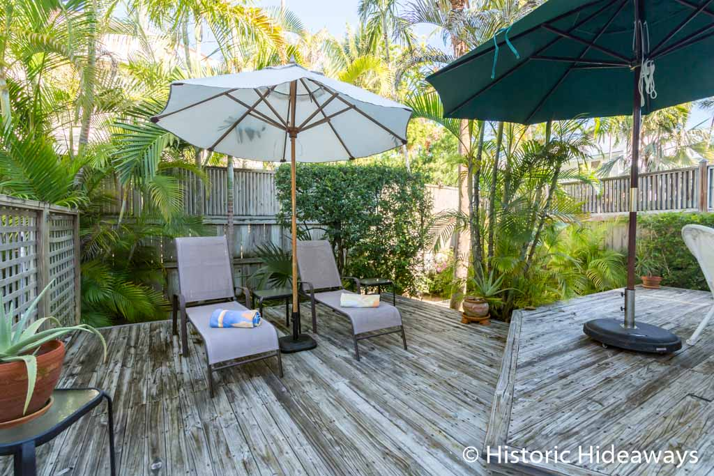 Private Deck next to Pool