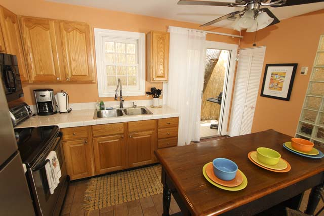 Kitchen Opens to Back Porch