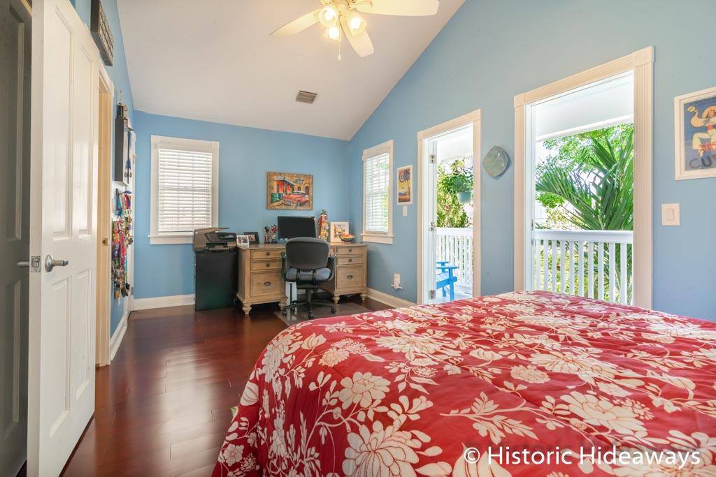 Guest Bedroom Opens to Front Balcony/Porch