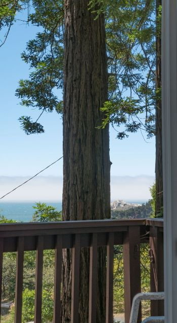 Nesteled among the redwoods with views of the ocean