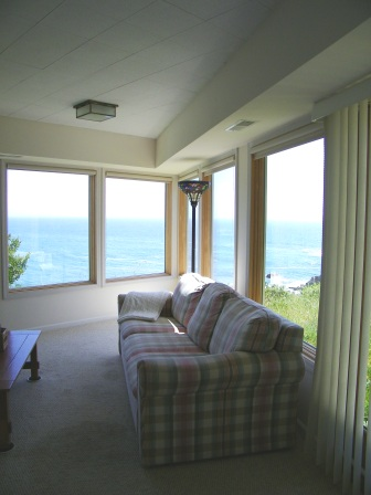 View from TV room