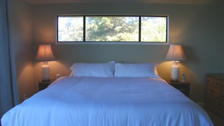 King bed in private suite with breathtaking views.