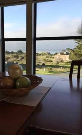 ocean views from the dining room