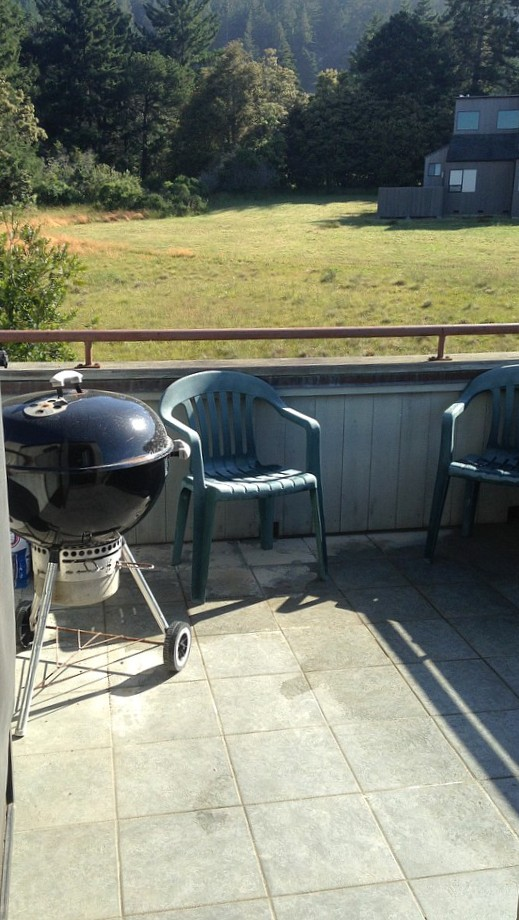 The upstairs patio is a great place to bbq and enjoy