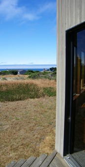 The view from the patio on the side of the house