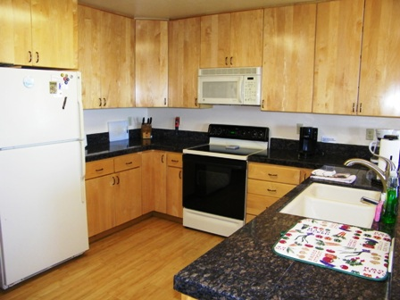 Beauitful, well equipped kitchen, open to the dining room.