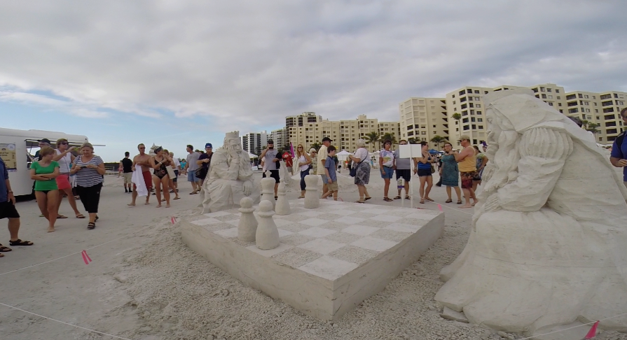 Sandsculpting Championship And Beach..
